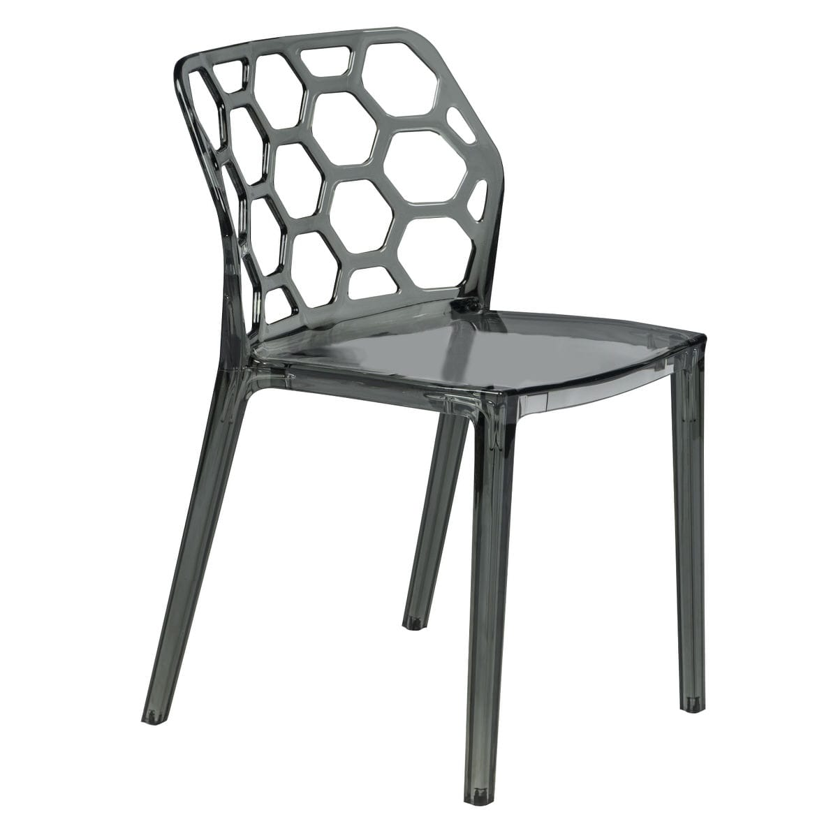 Stupendous Dynamic Modern Transparent Black Dining Chair By Leisuremod Pabps2019 Chair Design Images Pabps2019Com