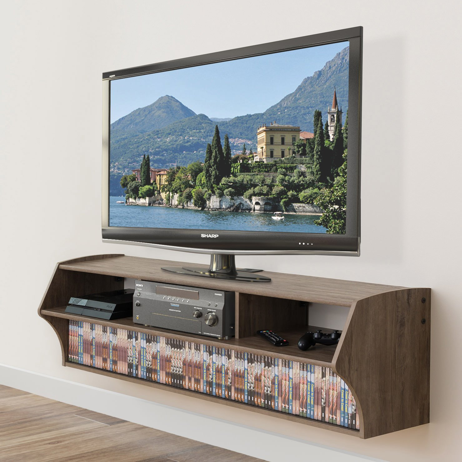 Floating Tv Stand Altus Plus 58 Inch Floating Tv Stand By Prepac