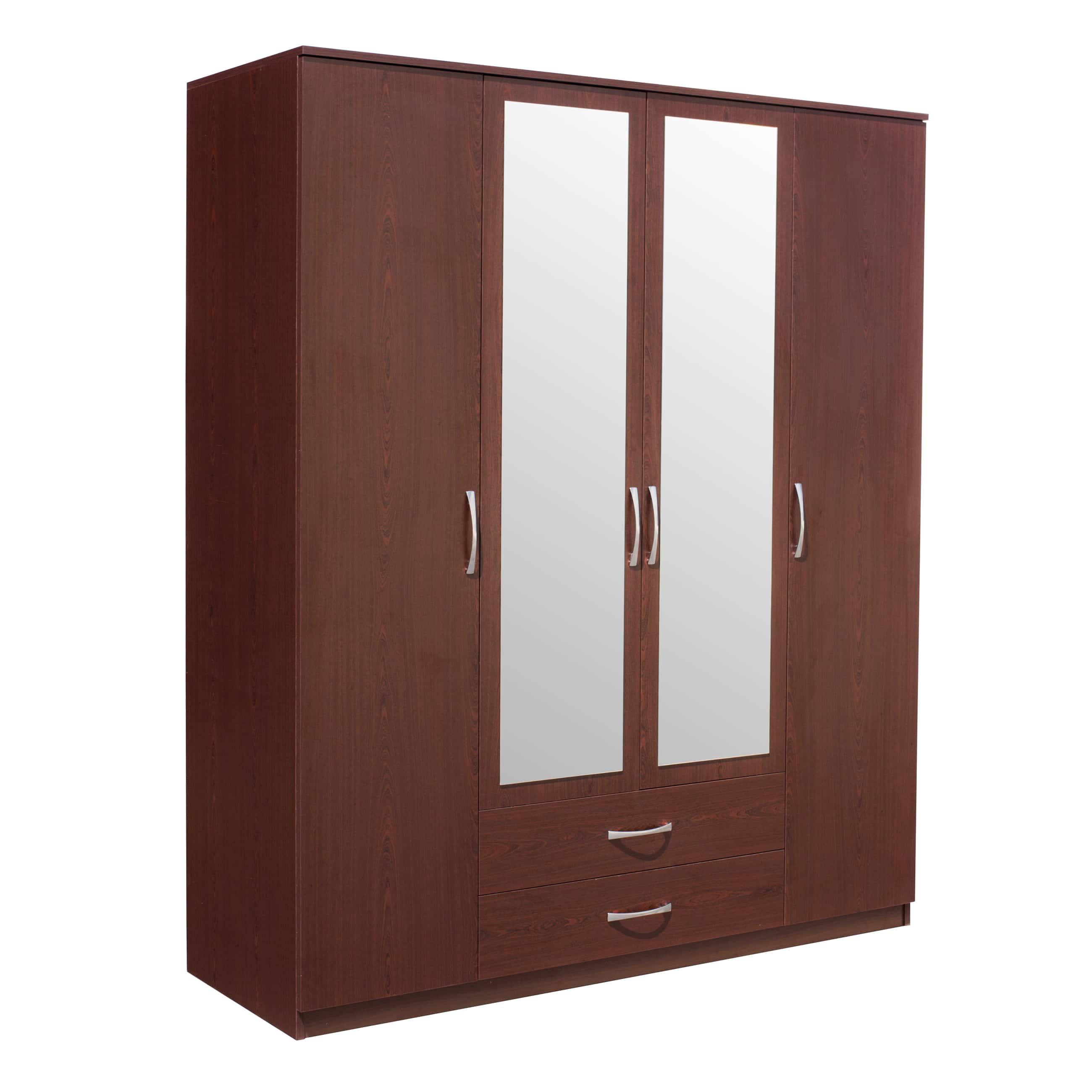 Deco Milano Mohagony 4 Door Wardrobe By Casamode