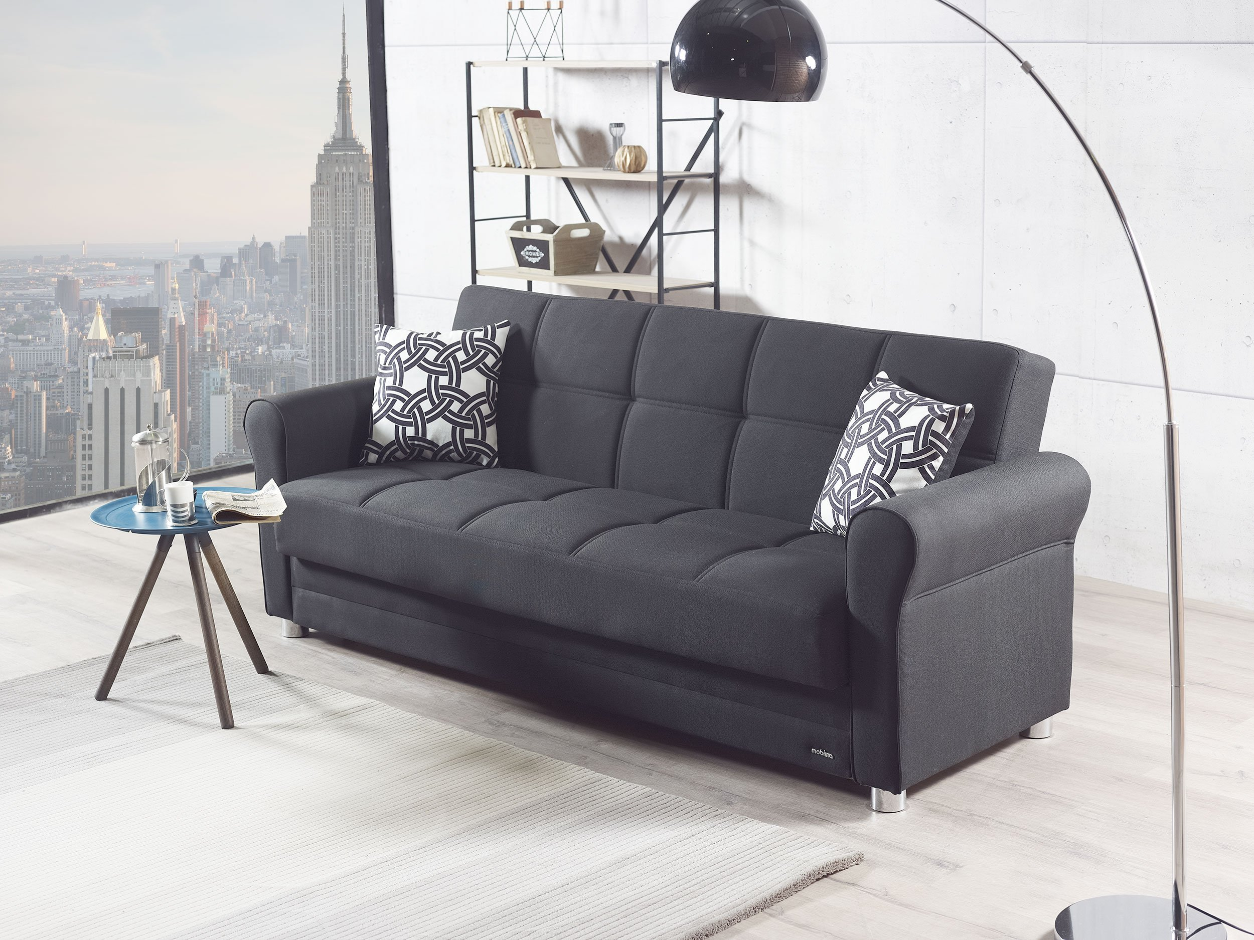divano black sofa bed by mobista