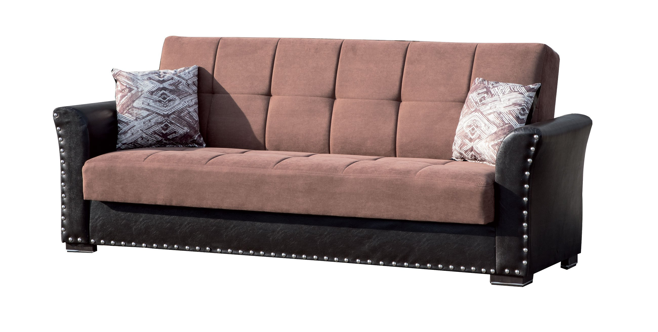 Swell Diva Brown Fabric Convertible Sofa Bed By Casamode Inzonedesignstudio Interior Chair Design Inzonedesignstudiocom