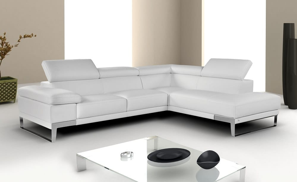 : white modern leather sectional - Sectionals, Sofas & Couches