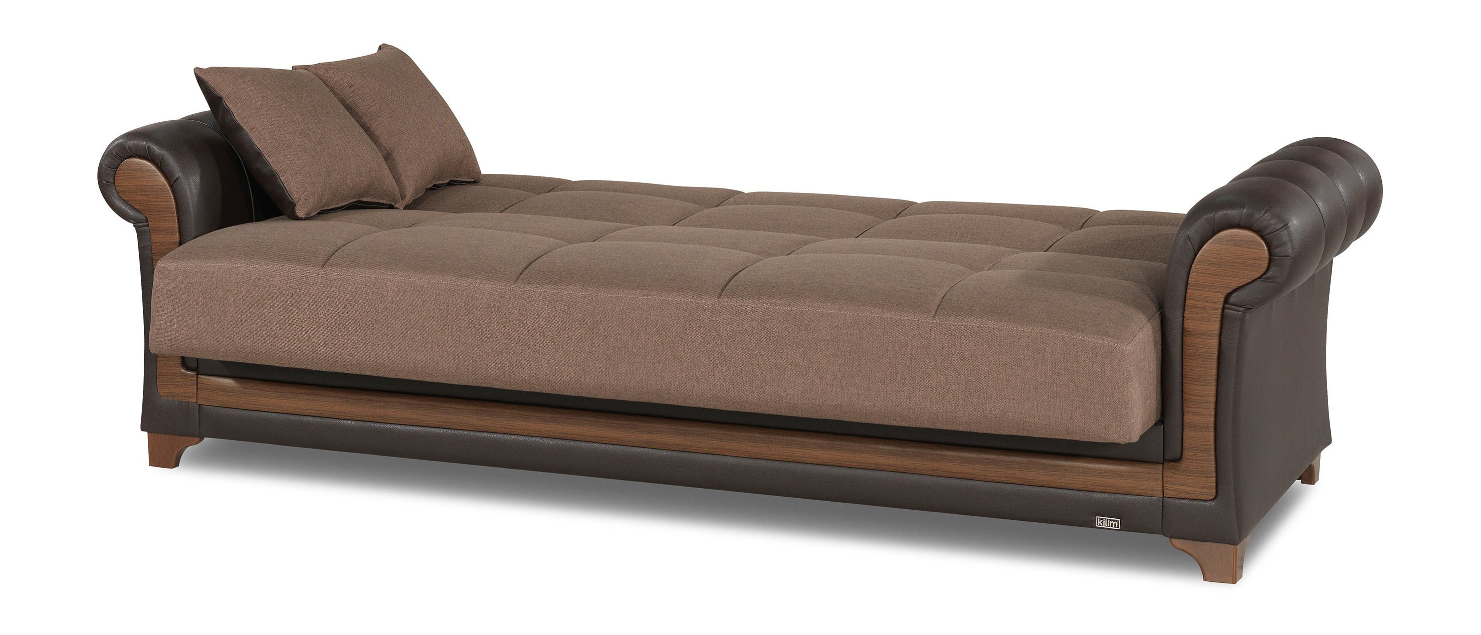 Dream decor brown convertible sofa bed by casamode for Divan convertible