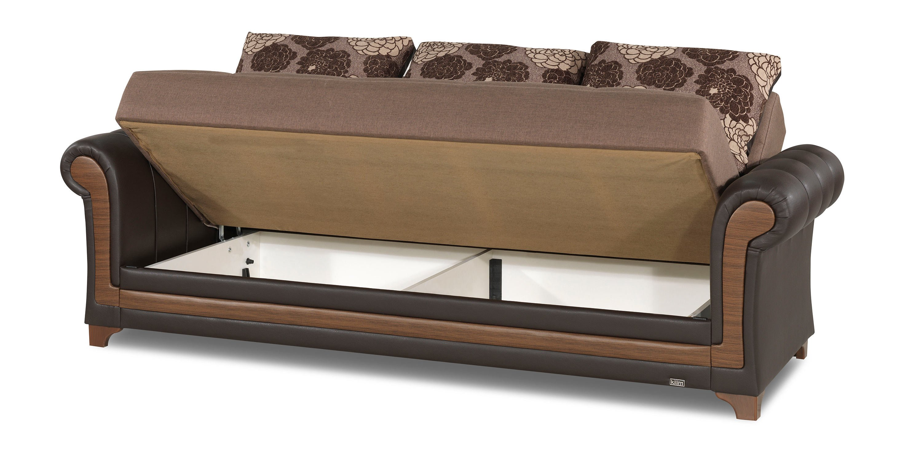 Dream Decor Brown Convertible Sofa Bed by Casamode