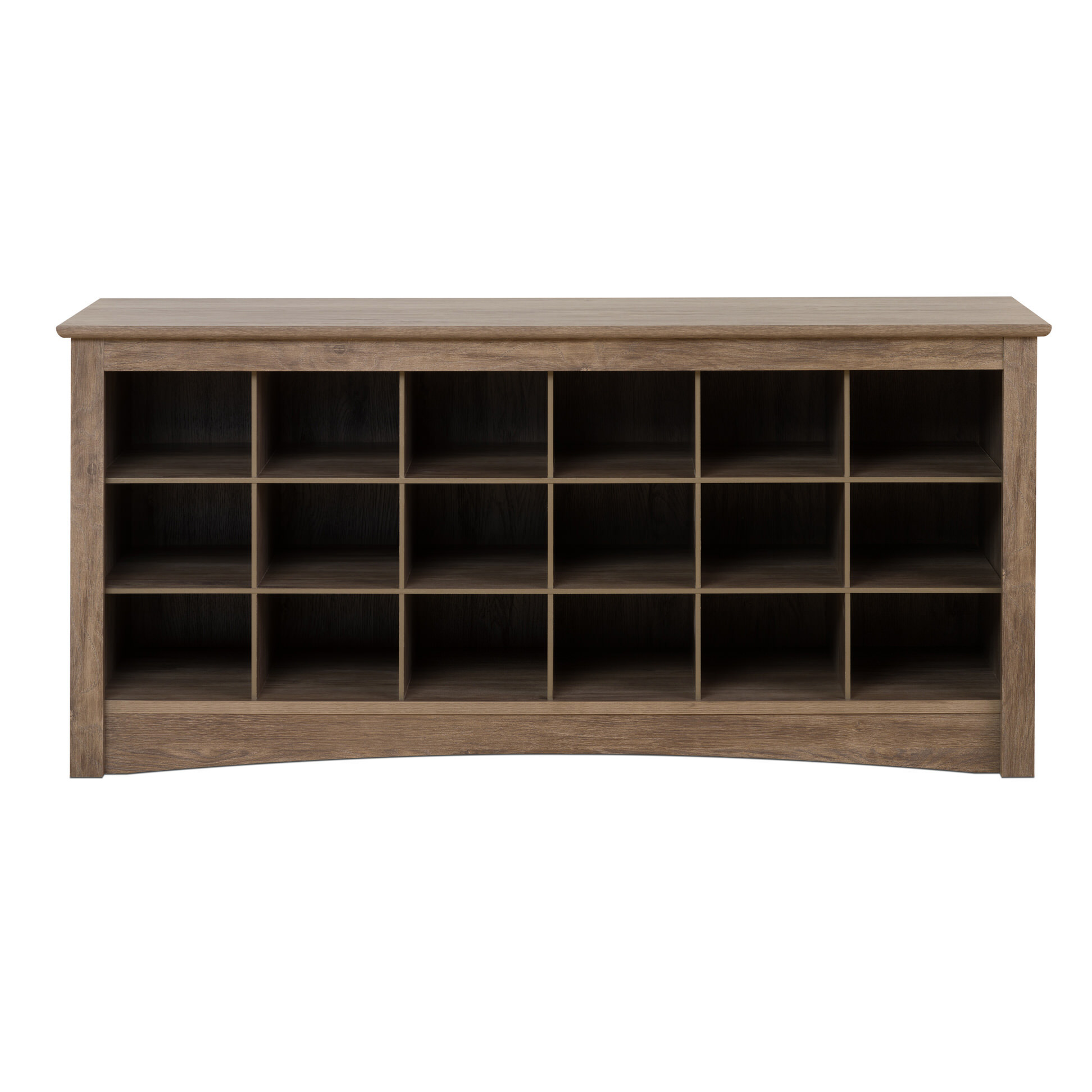Black Shoe Cubby Bench