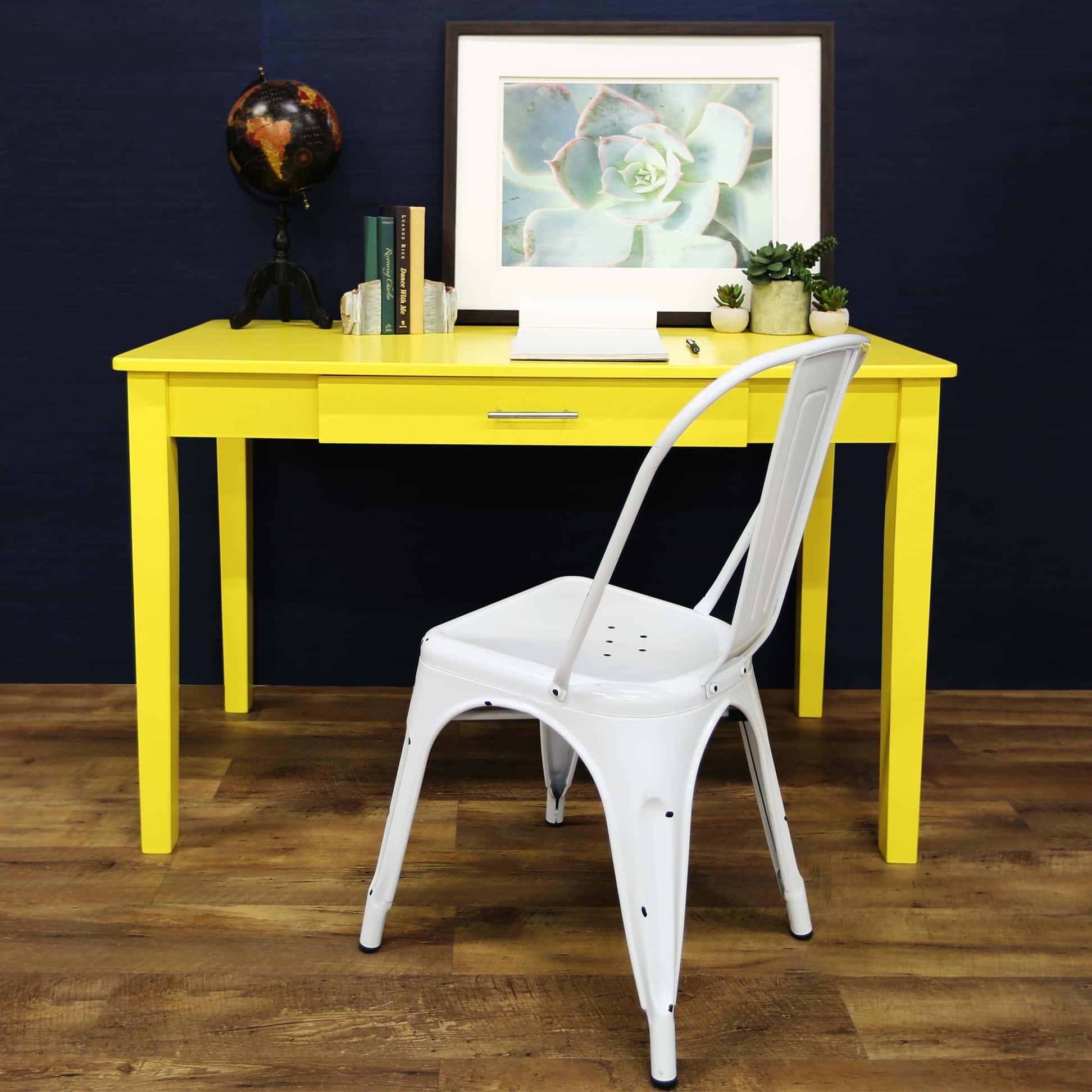 midtown writing desk   yellow by walker edison