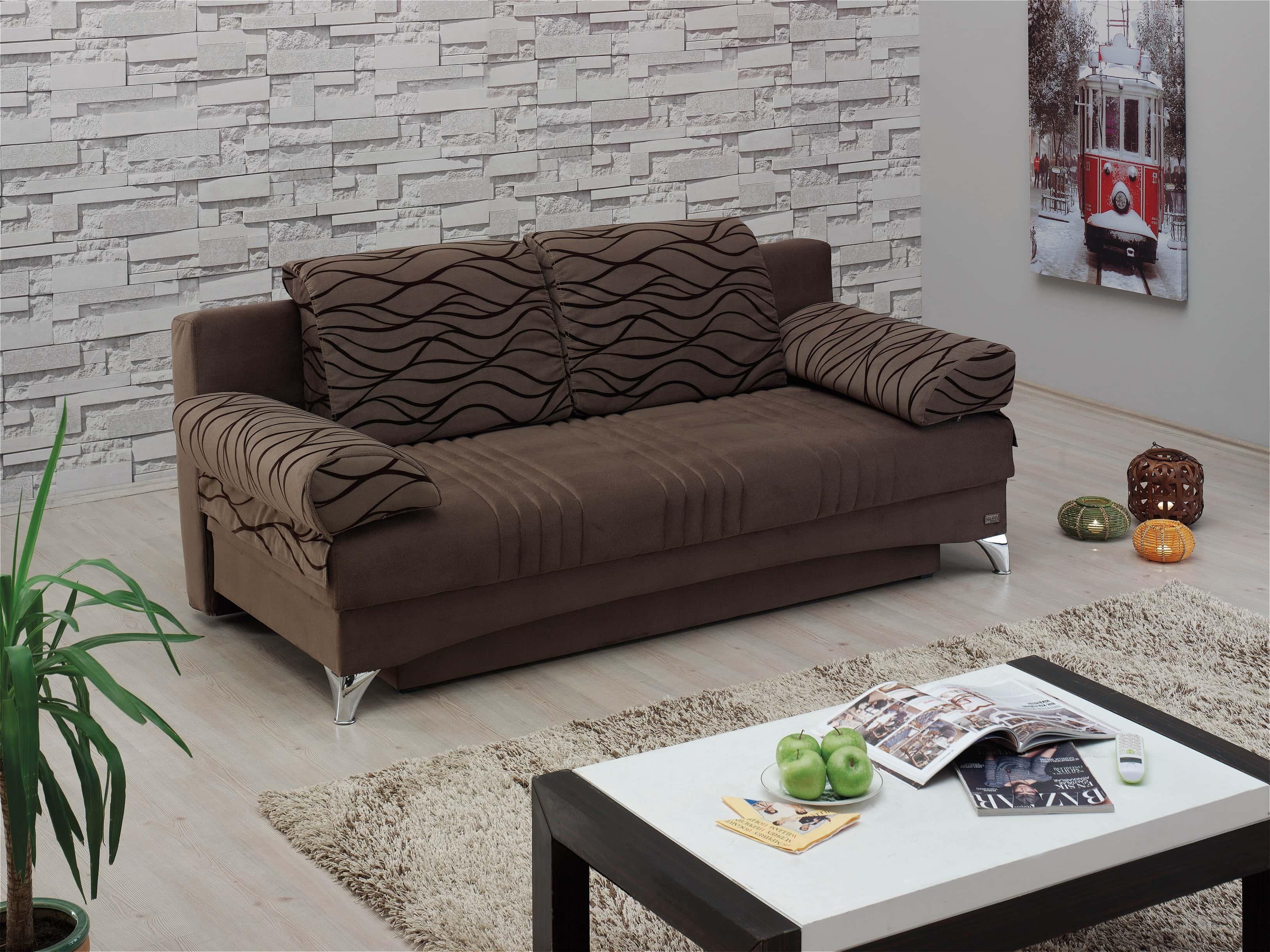 Daisy Dark Brown Sofa Bed By Empire Furniture Usa