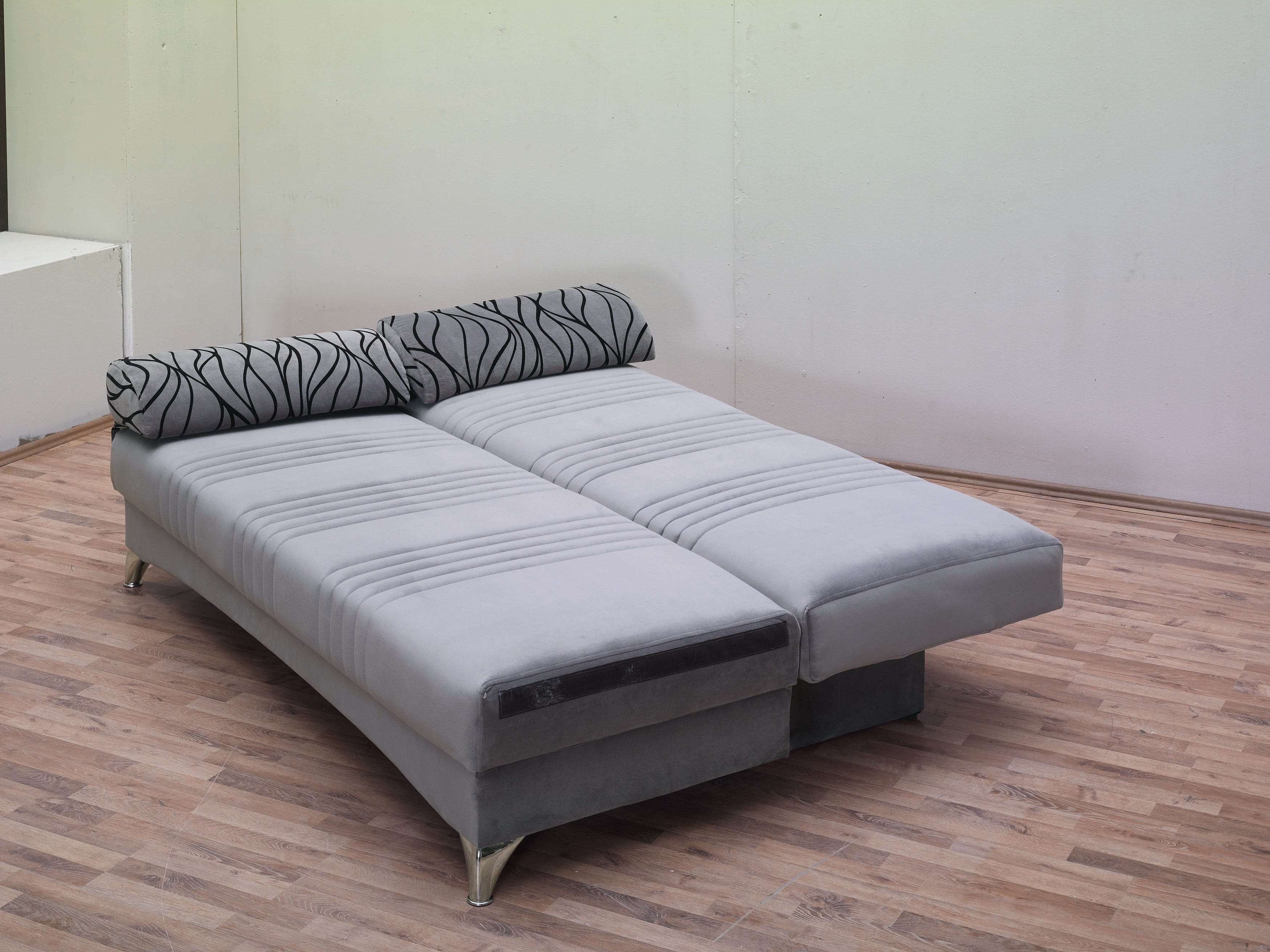 Daisy gray sofa bed by empire furniture usa for Grey divan bed