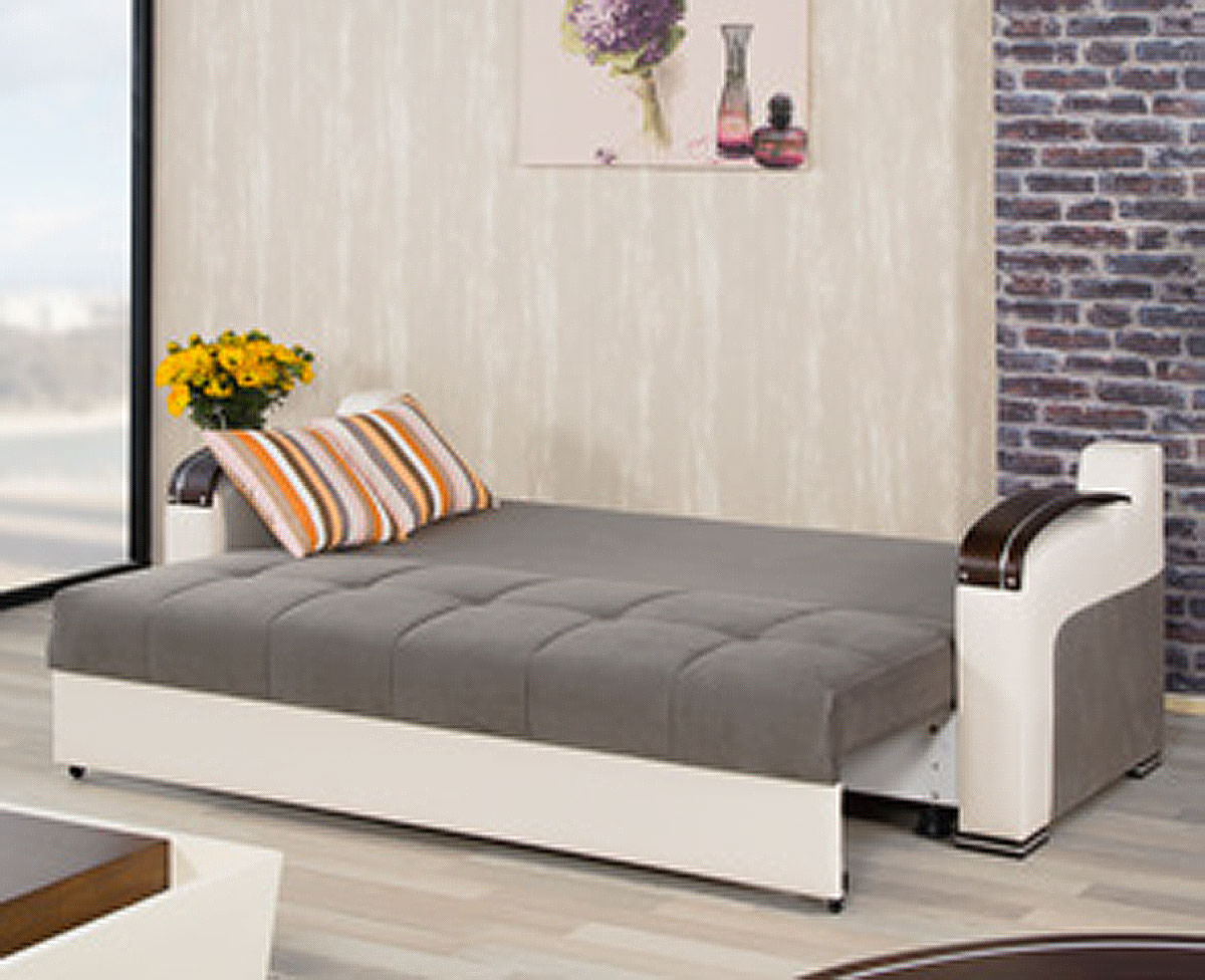 Divan Deluxe Golf Gray Convertible Sofa Bed By Casamode - Divans convertibles
