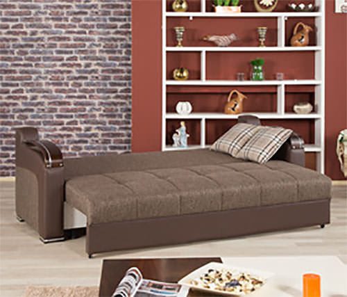 Divan Deluxe Kalinka Brown Convertible Sofa Bed By Casamode - Divans convertibles