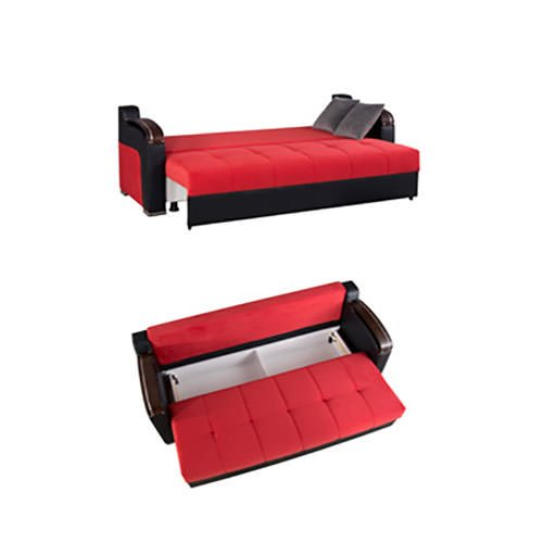 Divan deluxe truva red convertible sofa bed by casamode for Divans convertibles