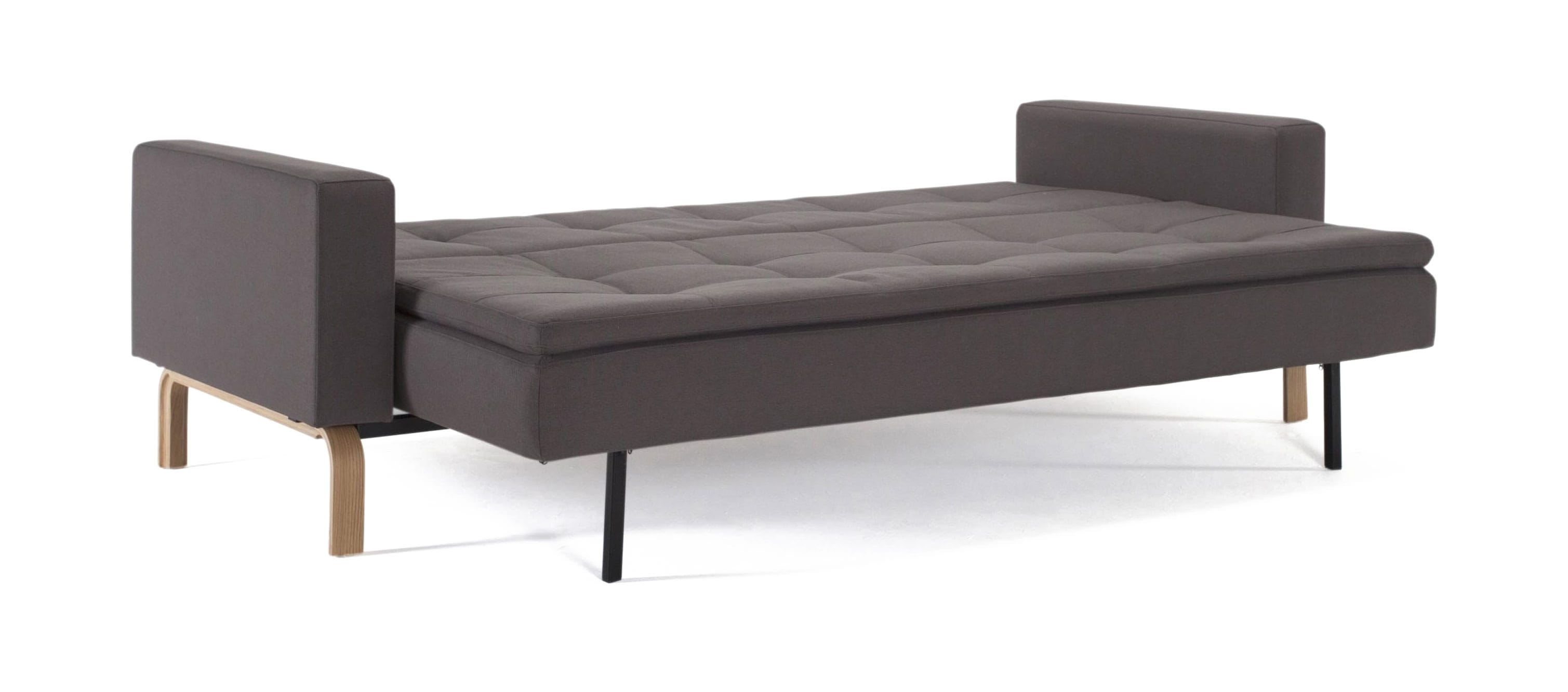 Peachy Cassius Dual Sofa Bed W Arms Full Size Soft Gray By Innovation Andrewgaddart Wooden Chair Designs For Living Room Andrewgaddartcom