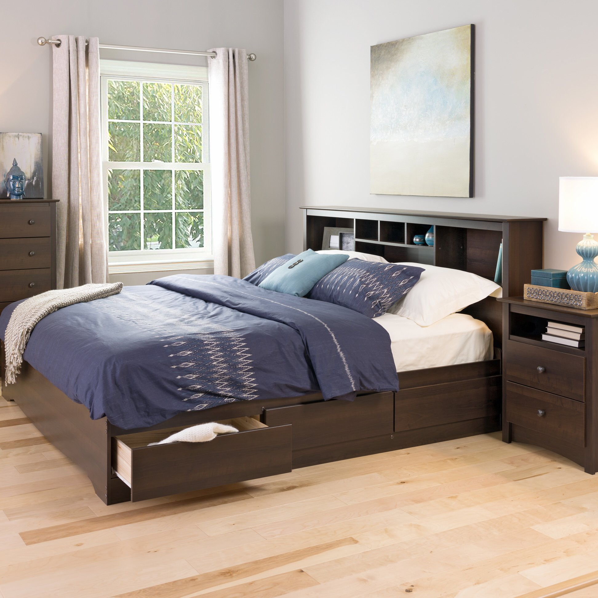 ashley espresso drawes size bed kira most mattress drawers frames plus healthy king wall and oak seen drawer storage contemporary for design gallery untreated painted on the bedroom underneath queen frame dark in wooden also brown with twin images beds wood grey floor varnished ideas