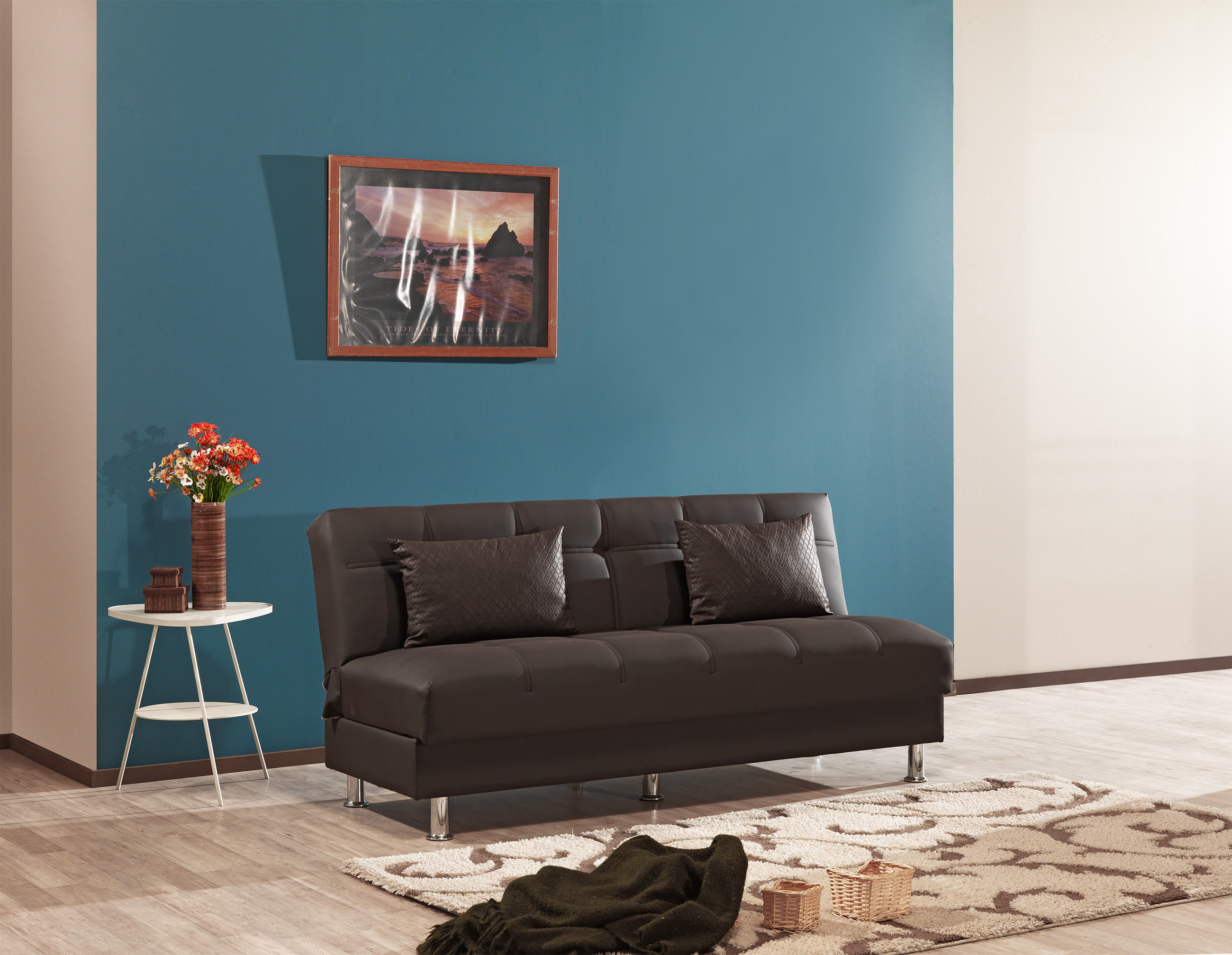 Eco Rest Zen Brown Leatherette Sofa By Casamode