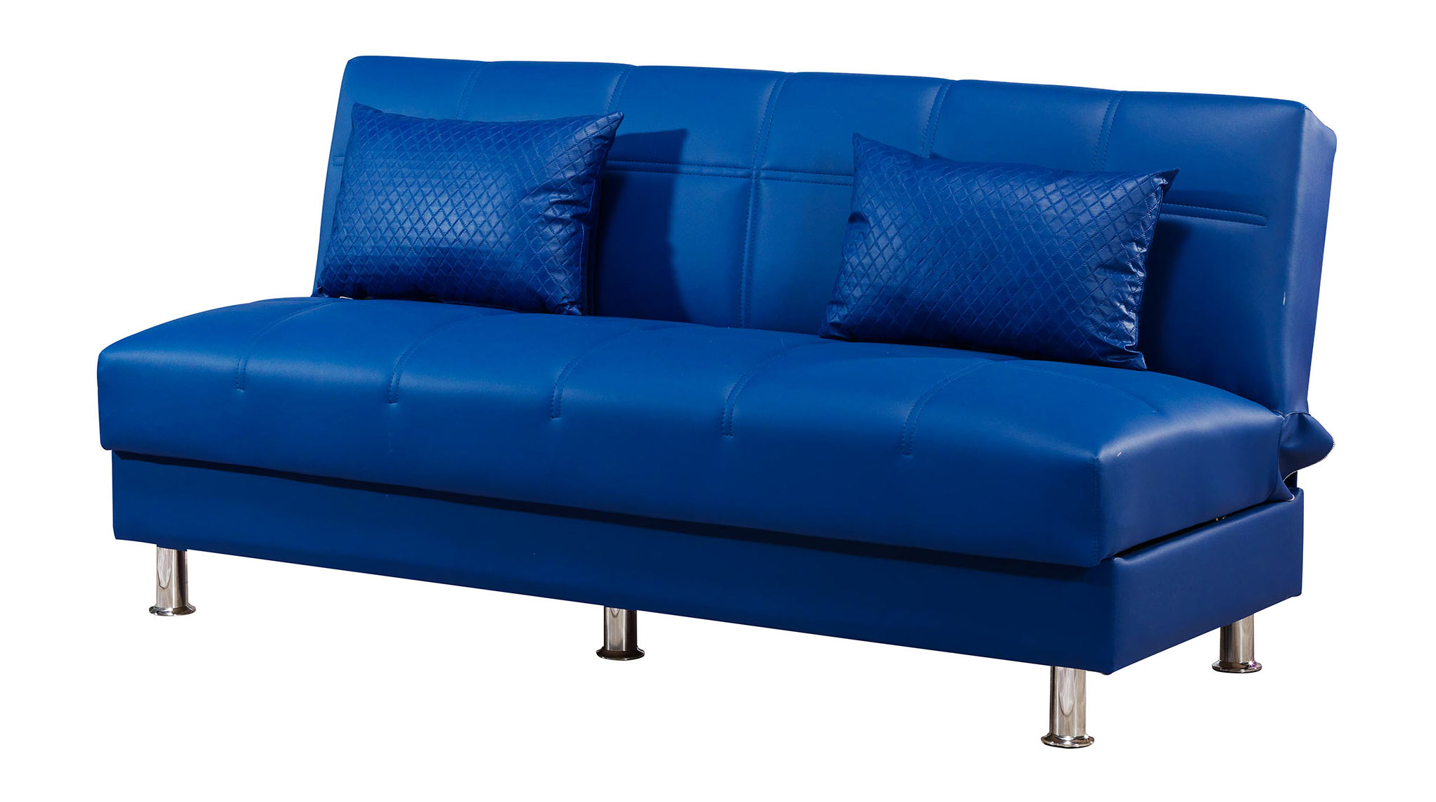 Eco Rest Zen Navy Leatherette Sofa by Casamode