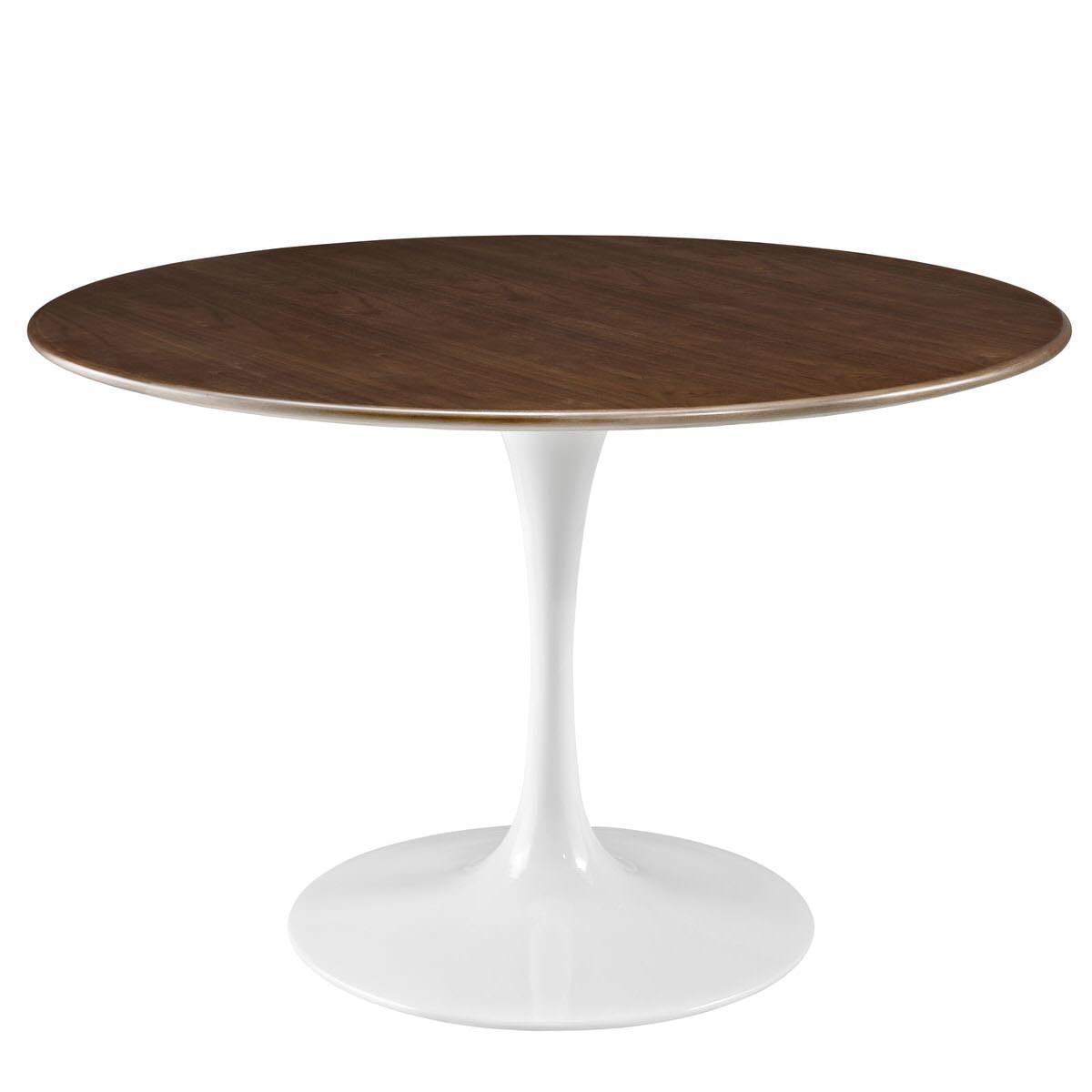 Lippa 47 Inch Round Walnut Dining Table By Modern Living