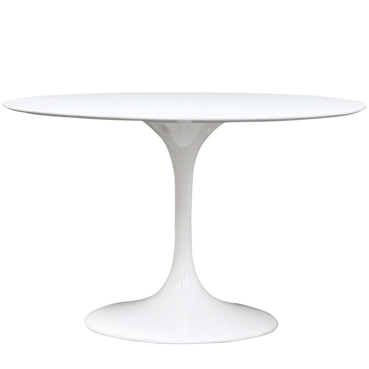 Lippa 48 Inch Round Fiberglass Dining Table White By Modern Living