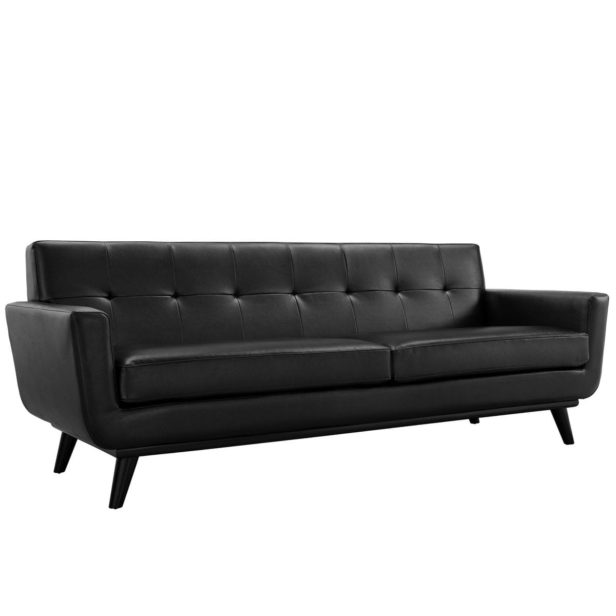 Sensational Engage Bonded Leather Sofa Black By Modern Living Gamerscity Chair Design For Home Gamerscityorg