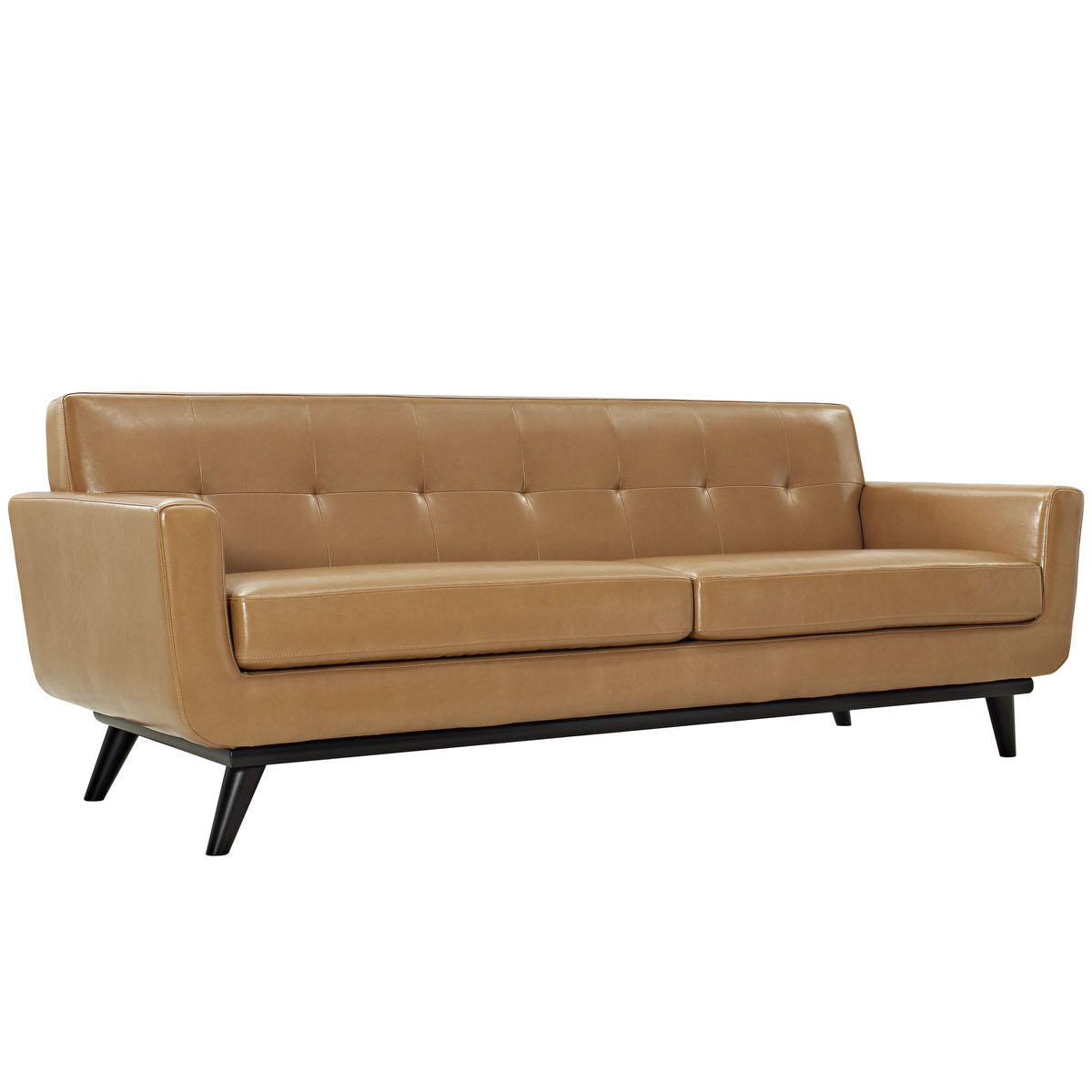 Engage Bonded Leather Sofa Tan By Modern Living