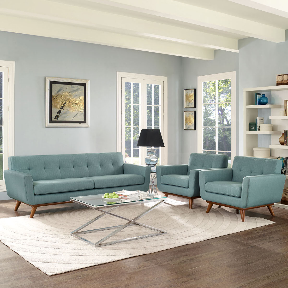 Engage Armchairs and Sofa Set of 3 Laguna by Modern Living