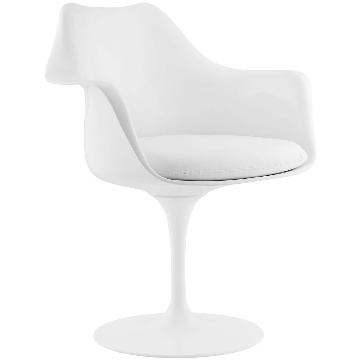 Pleasant Lippa Dining Vinyl Armchair White By Modern Living Dailytribune Chair Design For Home Dailytribuneorg