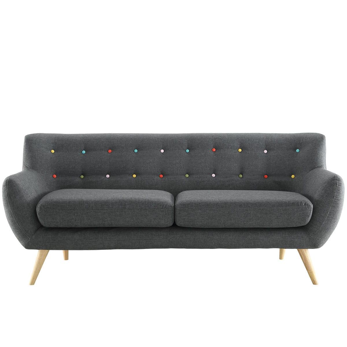 Remark Upholstered Sofa Gray by Modern Living