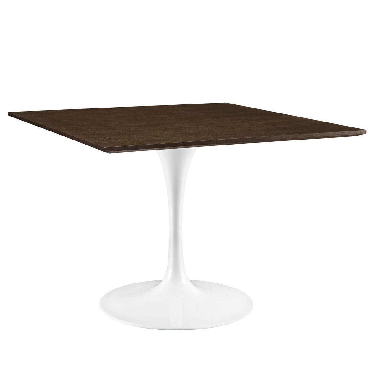 Lippa 40 Inch Square Walnut Dining Table By Modern Living