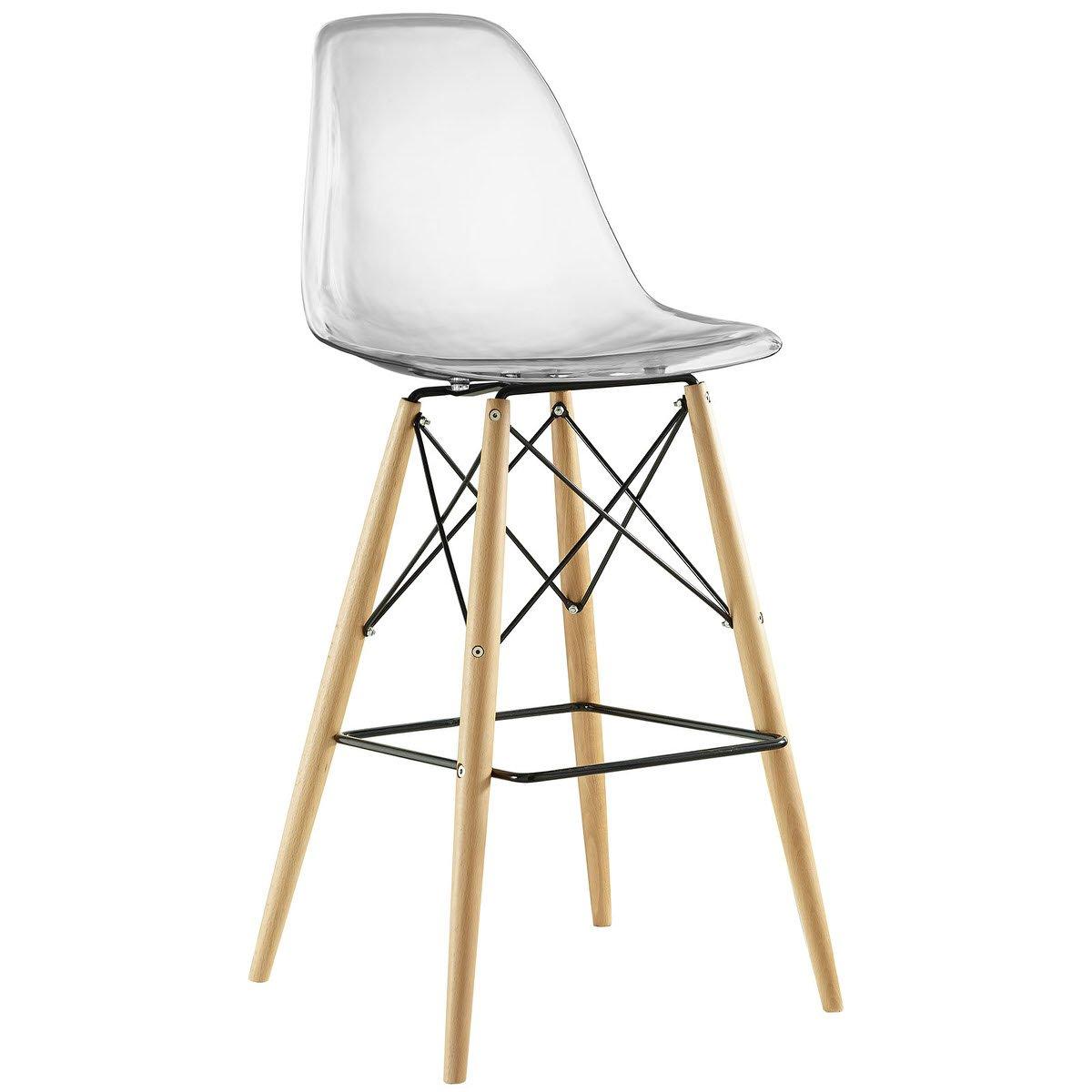 Pleasing Pyramid Bar Stool Clear By Modern Living Uwap Interior Chair Design Uwaporg
