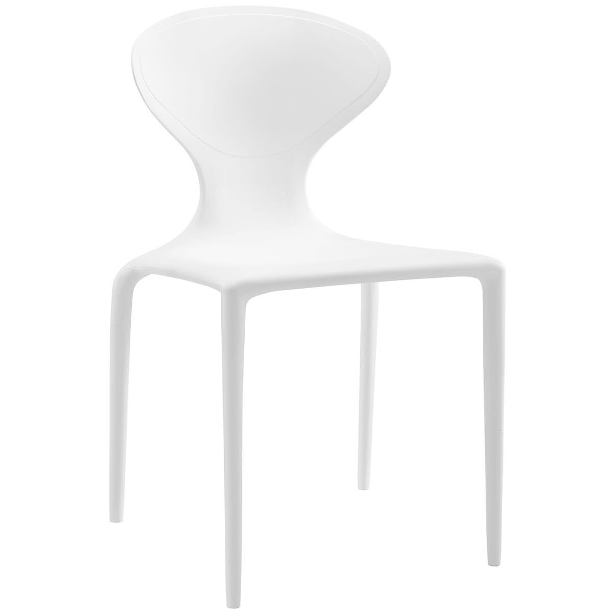 Outstanding Draw Dining Side Chair White By Modway Uwap Interior Chair Design Uwaporg