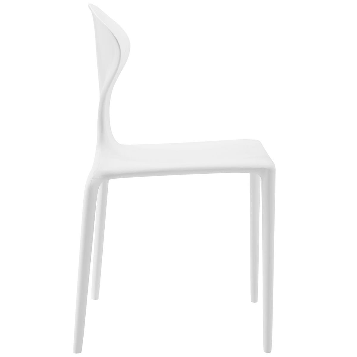Fabulous Draw Dining Side Chair White By Modway Uwap Interior Chair Design Uwaporg