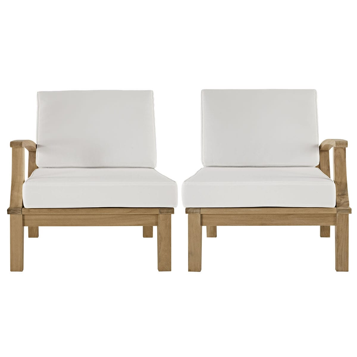 Phenomenal Marina 2 Piece Outdoor Patio Teak Sofa Set Natural White By Modern Living Download Free Architecture Designs Sospemadebymaigaardcom