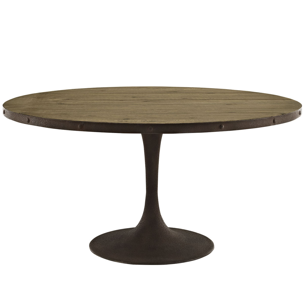 Drive Inch Round Wood Top Dining Table Brown By Modern Living - Modern 60 inch round dining table