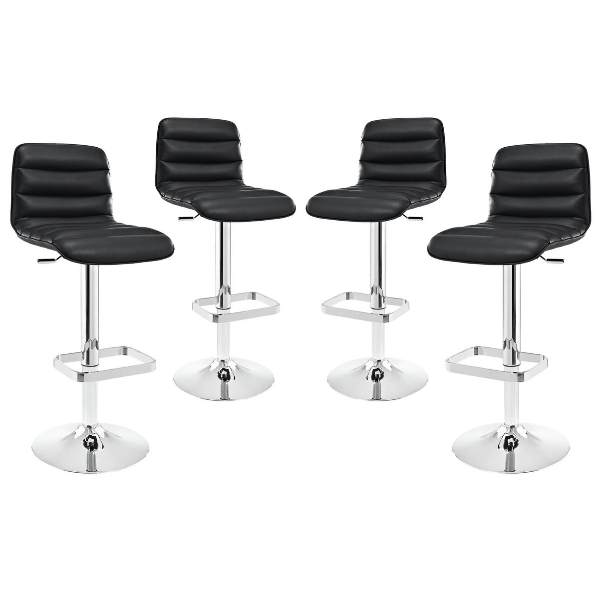 Outstanding Ripple Bar Stool Set Of 4 Black By Modern Living Cjindustries Chair Design For Home Cjindustriesco