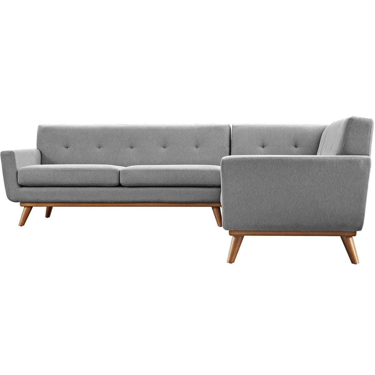 Engage L-Shaped Sectional Sofa Expectation Gray by Modern Living