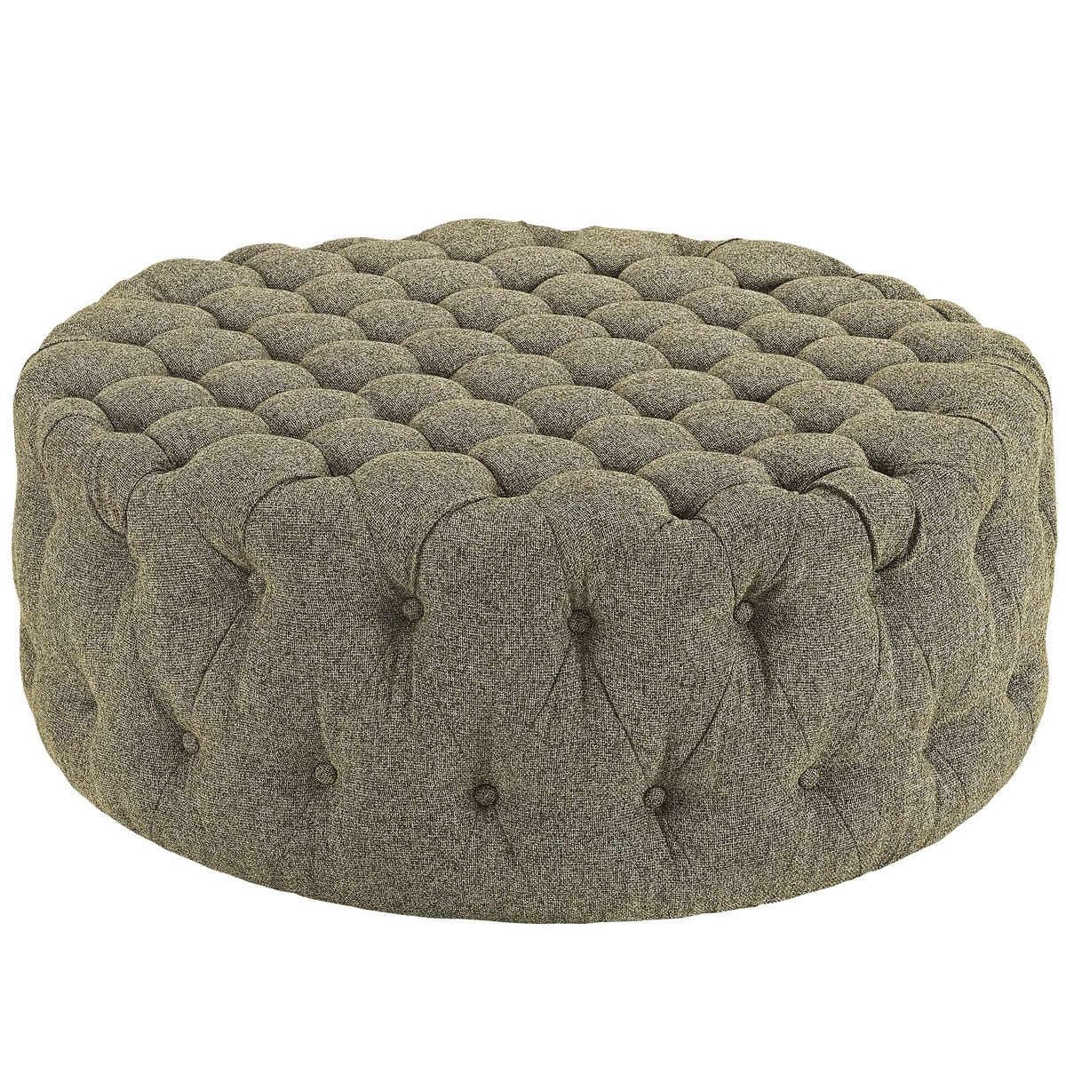 Amazing Amour Upholstered Fabric Ottoman Oatmeal By Modern Living Gmtry Best Dining Table And Chair Ideas Images Gmtryco