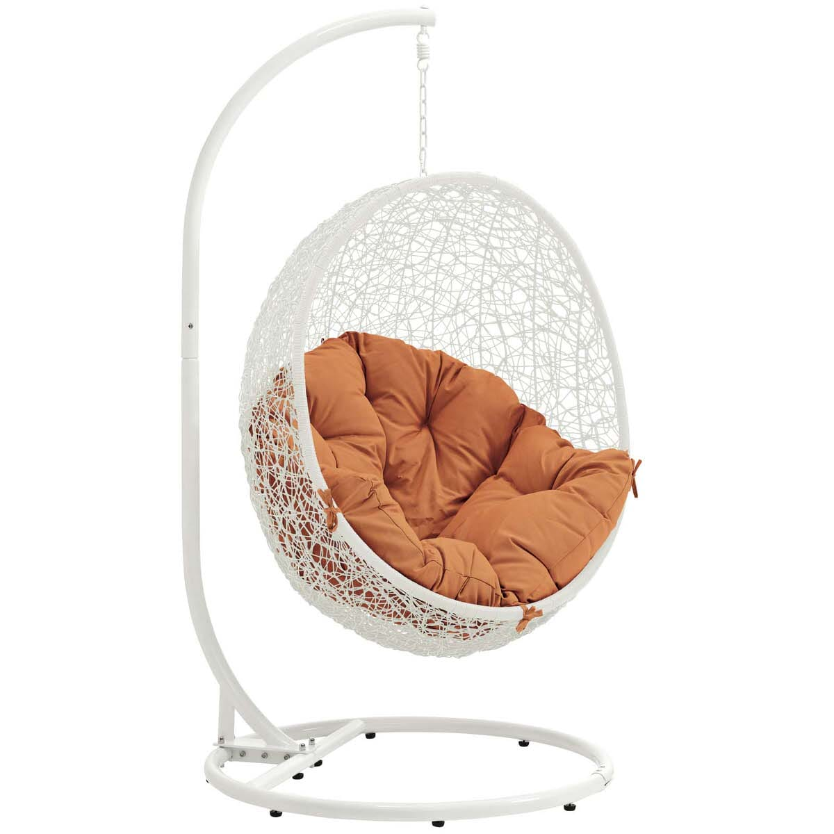 Amazing Hide Outdoor Patio Swing Chair With Stand White Orange By Modern Living Onthecornerstone Fun Painted Chair Ideas Images Onthecornerstoneorg