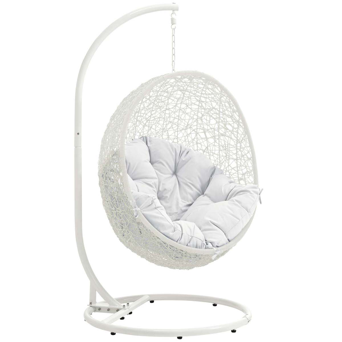Super Hide Outdoor Patio Swing Chair With Stand White By Modern Living Onthecornerstone Fun Painted Chair Ideas Images Onthecornerstoneorg