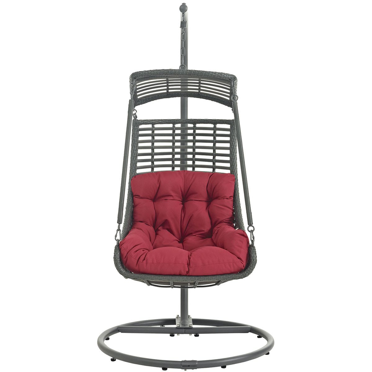 jungle outdoor patio swing chair with stand red by modern living. Black Bedroom Furniture Sets. Home Design Ideas