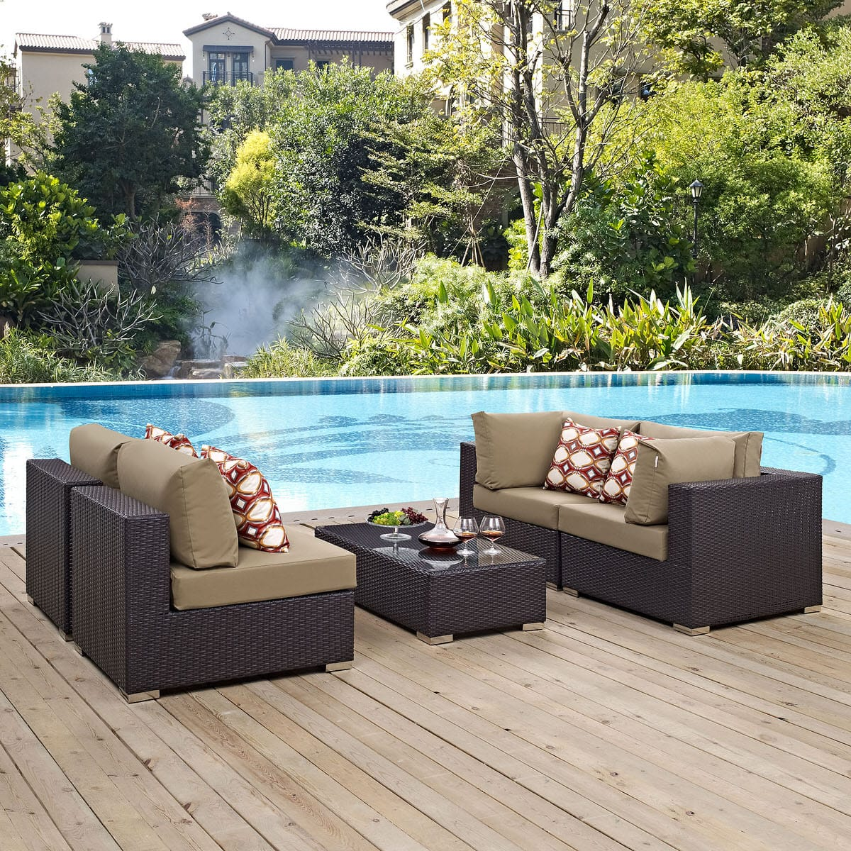 owlee modern pacificamodernpatiosectionalset sale set ow lee sectional patio pacifica