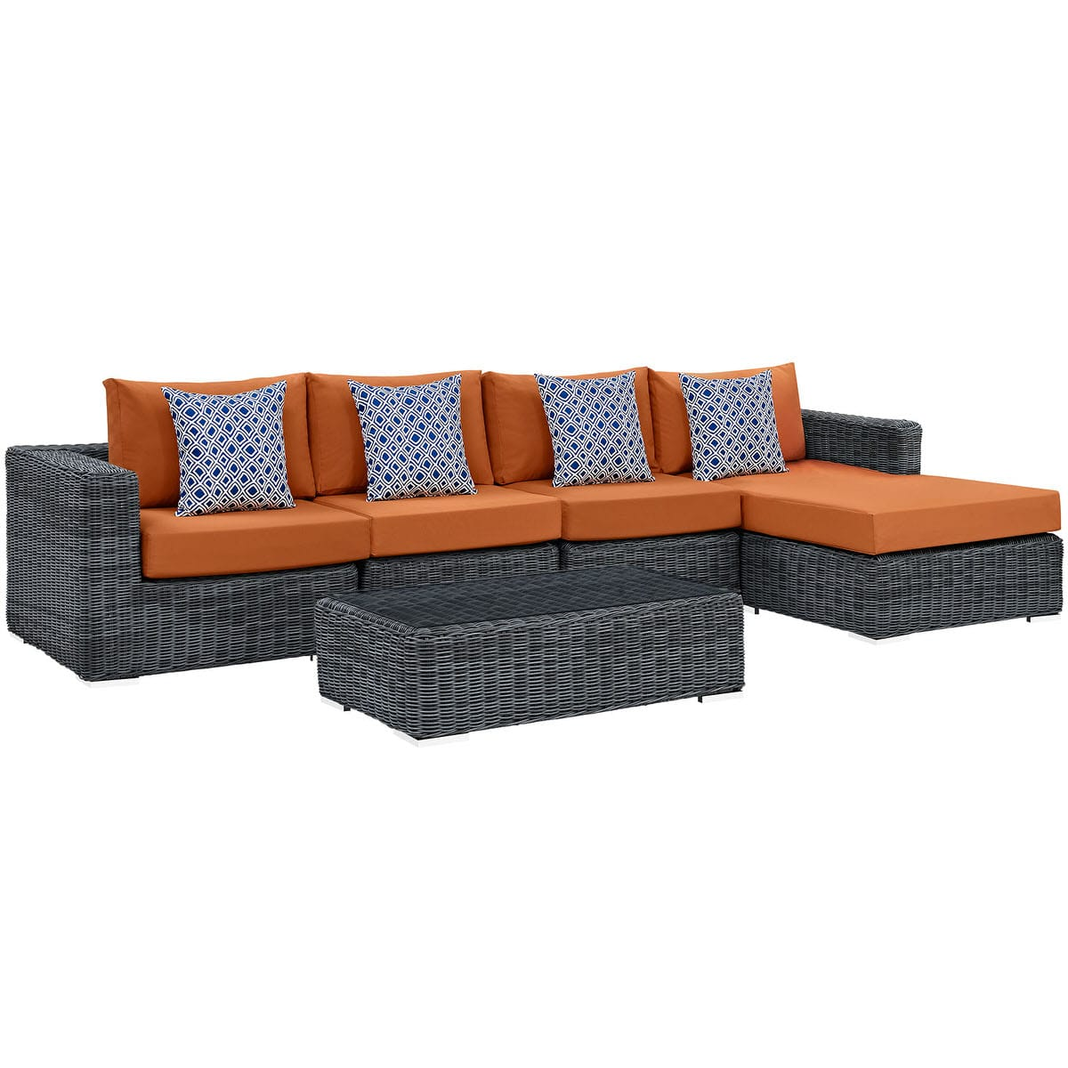 Outdoor Patio Sunbrella Sectional Set