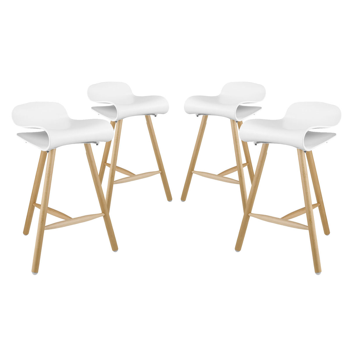 Prime Clip Bar Stool Set Of 4 White By Modern Living Gamerscity Chair Design For Home Gamerscityorg