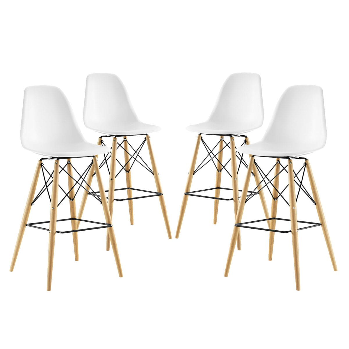 Strange Pyramid Dining Side Bar Stool Set Of 4 White By Modern Living Gamerscity Chair Design For Home Gamerscityorg