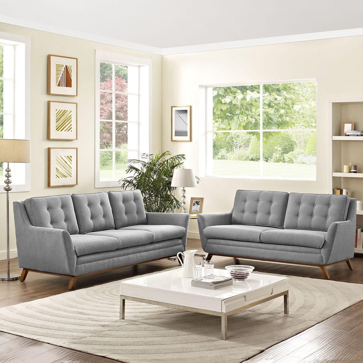 Beguile Living Room Set Upholstered Fabric Set