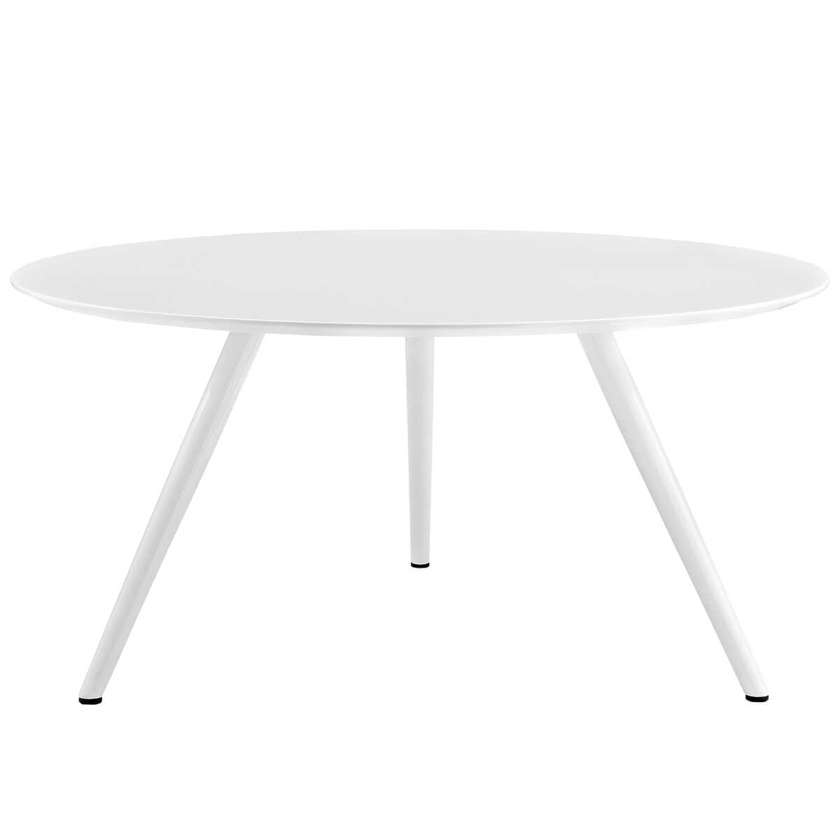 Lippa 60 Inch Round Wood Top Dining Table With Tripod Base White By Modern Living