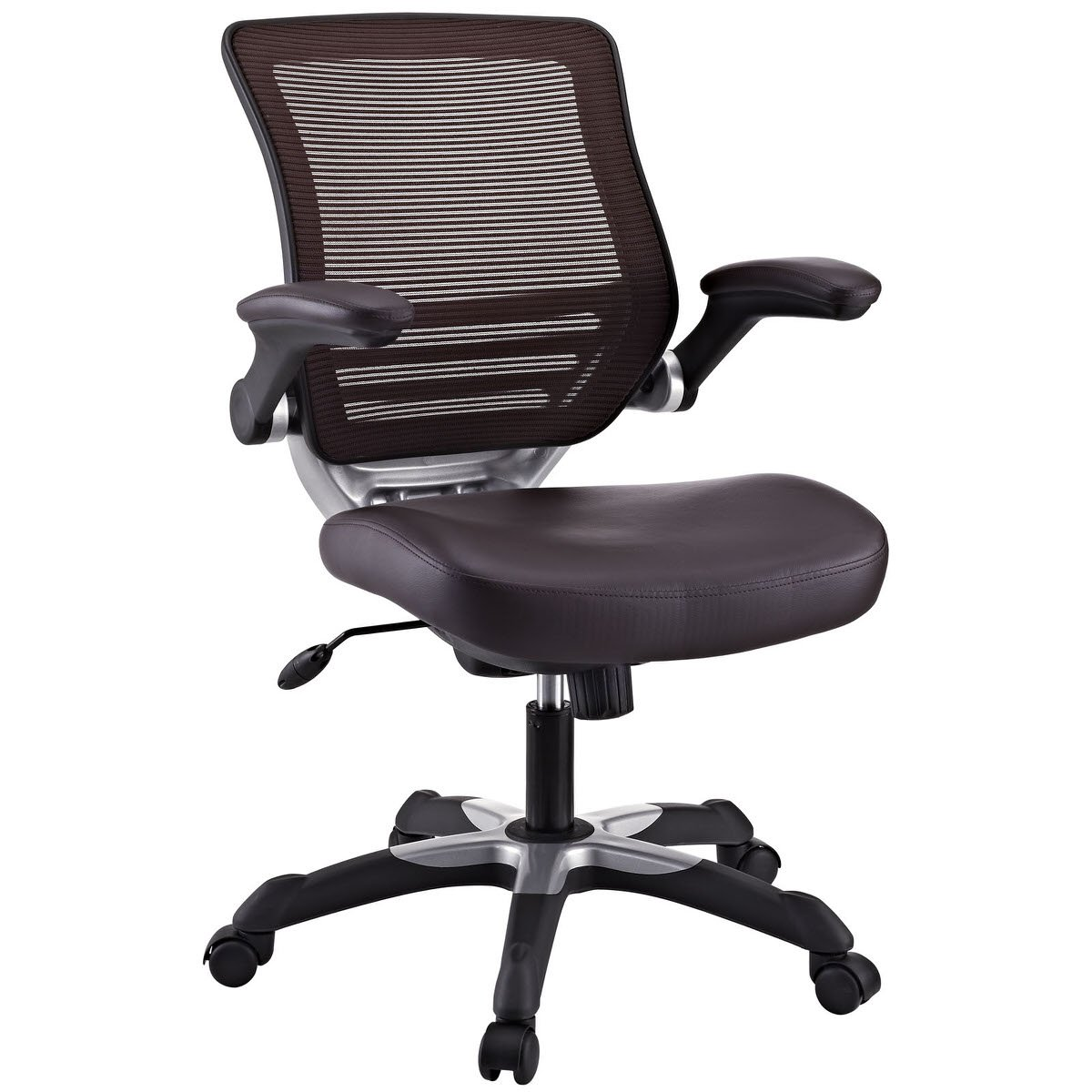 Edge Vinyl Office Chair Brown By Modway