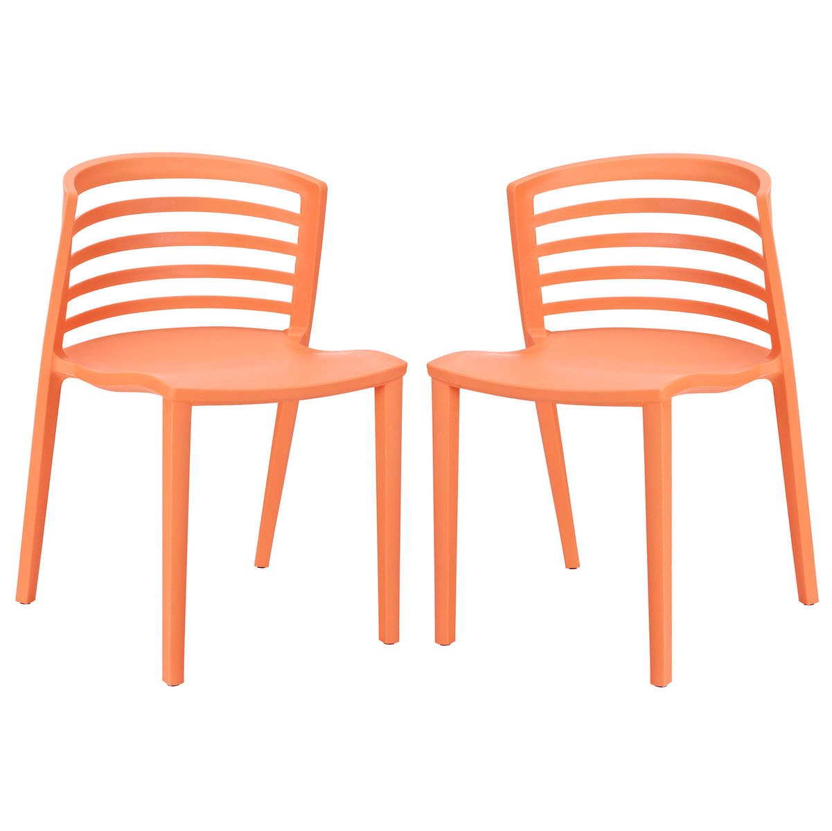 Astonishing Curvy Dining Chairs Set Of 2 Orange By Modway Camellatalisay Diy Chair Ideas Camellatalisaycom