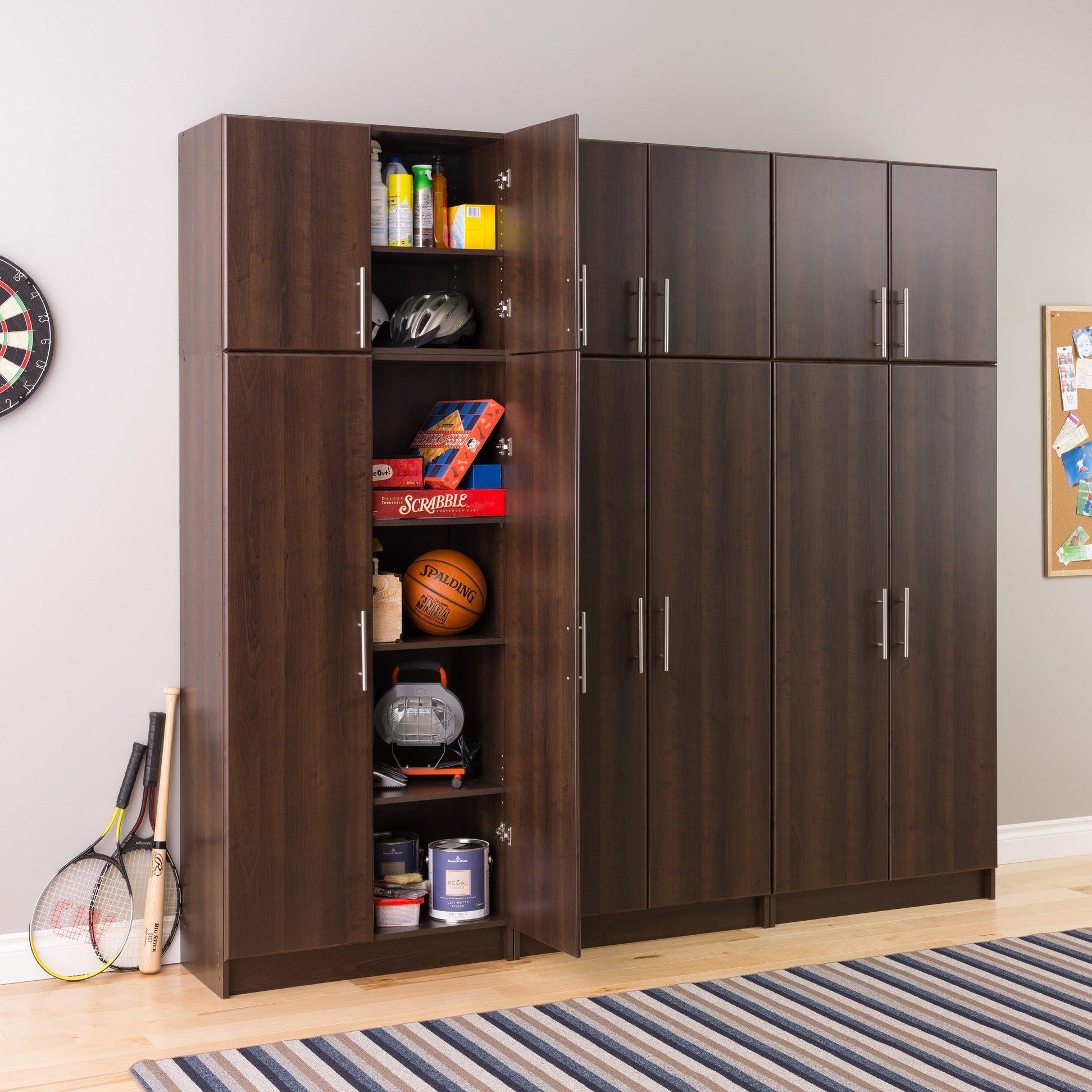 Elite 32 Inch Storage Cabinet Espresso By Prepac