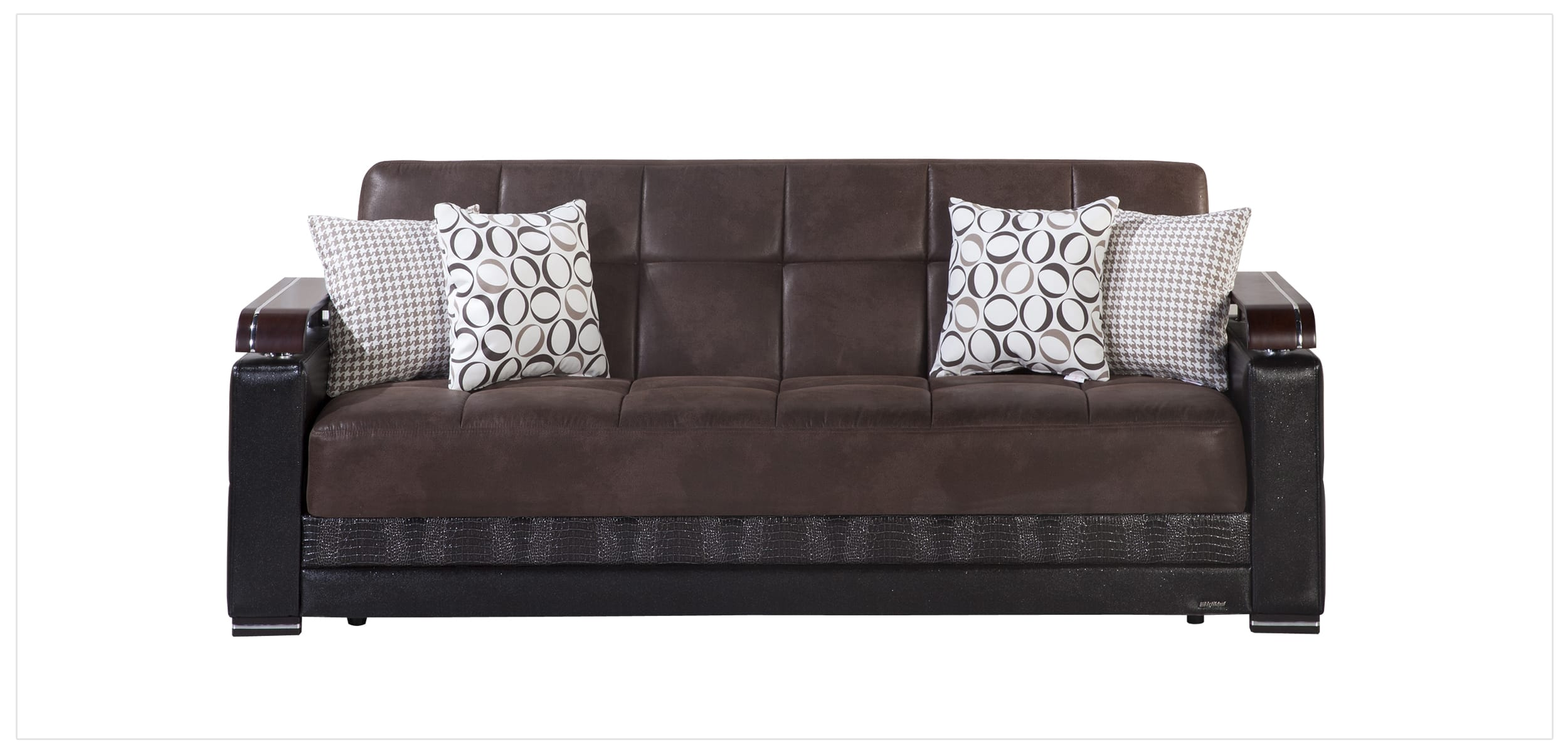 ekol chocolate convertible sofa bed by istikbal sunset. Black Bedroom Furniture Sets. Home Design Ideas