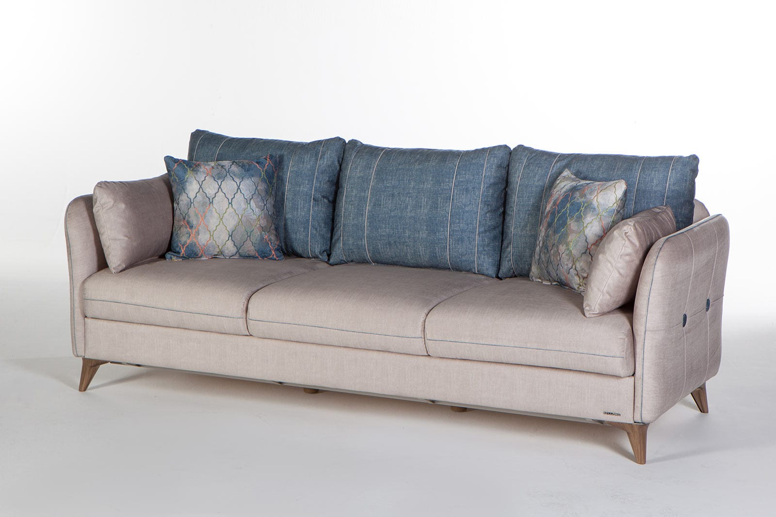 Elit Light Gray Convertible Sofa Bed by Istikbal Furniture