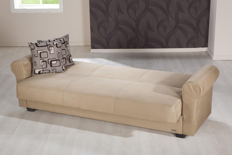 Elita S Rainbow Dark Beige Convertible Sofa Bed By Sunset